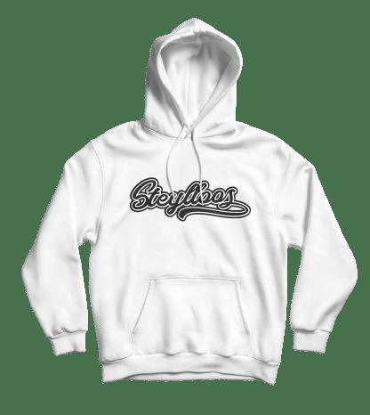 steylloos hoodie wit