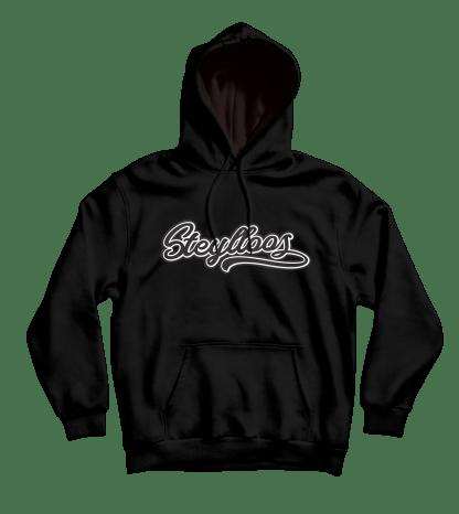 steylloos hoodie zwart