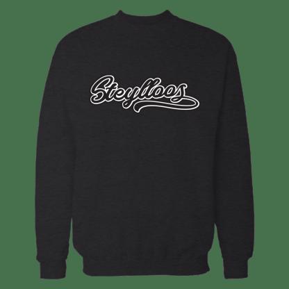 steylloos sweatshirt zwart