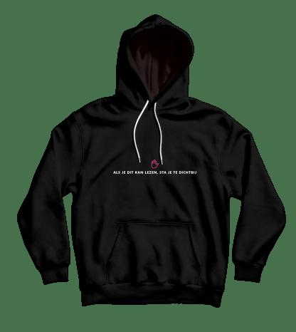 als je dit kan lezen hoodie black