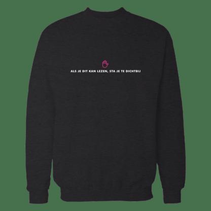 als je dit kan lezen sweatshirt black