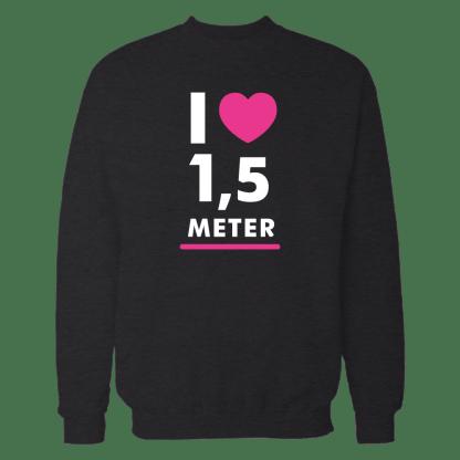 i heart 15 meter sweater zwart