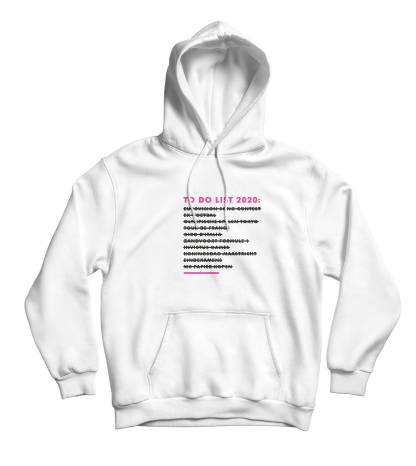 to do list hoodie white