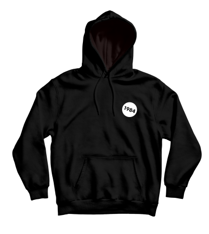 1984 hoodie zwart