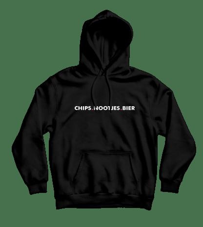 chips nootjes bier hoodie zwart