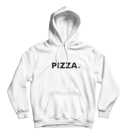 pizza hoodie wit