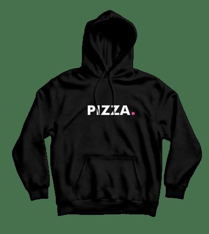 pizza hoodie zwart