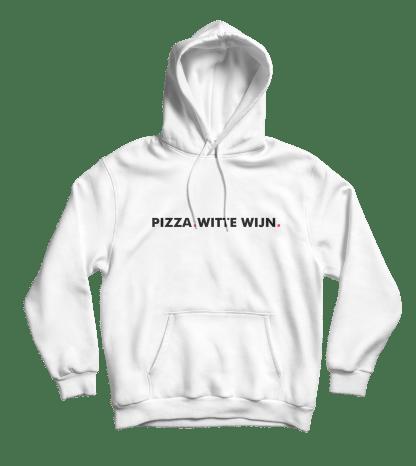 pizza witte wijn hoodie wit