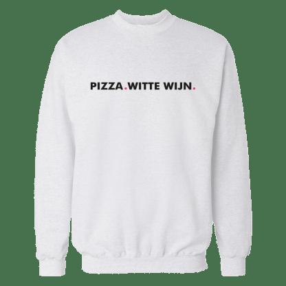 pizza witte wijn sweatshirt wit