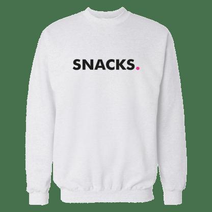 snacks sweatshirt wit