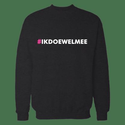 ikdoewelmee sweatshirt zwart