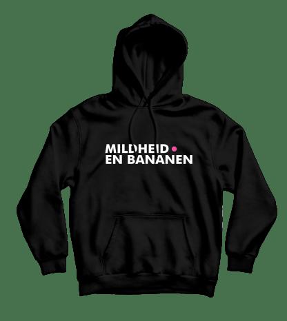 mildheid en bananen hoodie zwart
