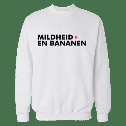 mildheid en bananen sweatshirt wit