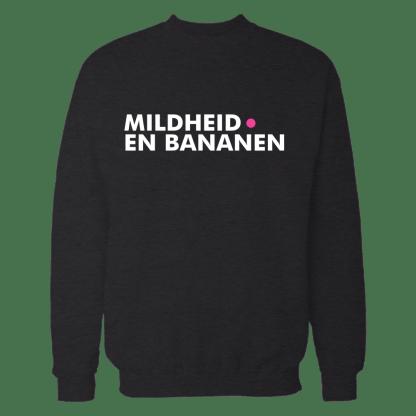 mildheid en bananen sweatshirt zwart