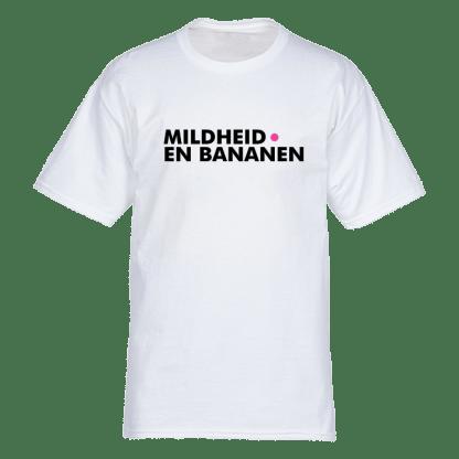 mildheid en bananen t shirt wit