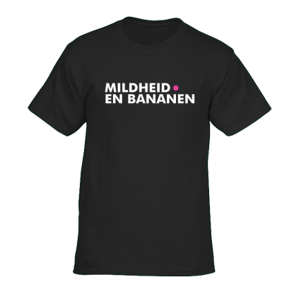 mildheid en bananen t shirt zwart 1