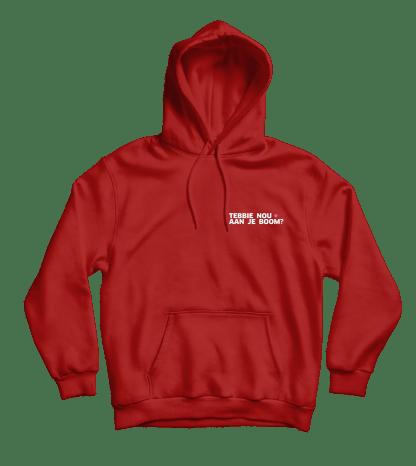 Tebbie nou hoodie rood