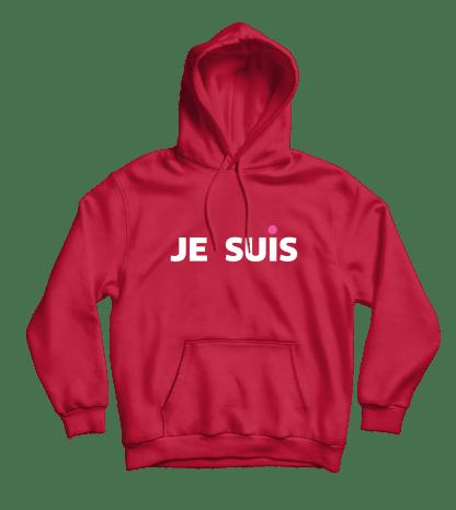 je suis hoodie rood