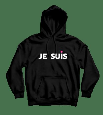 je suis hoodie zwart