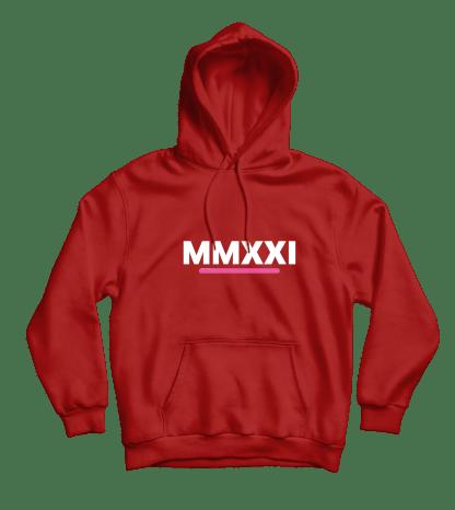 mmxxi hoodie rood