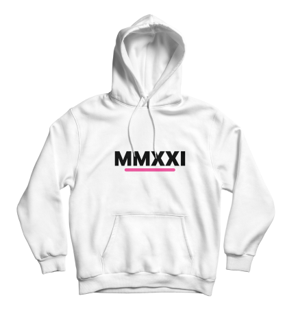 mmxxi hoodie wit