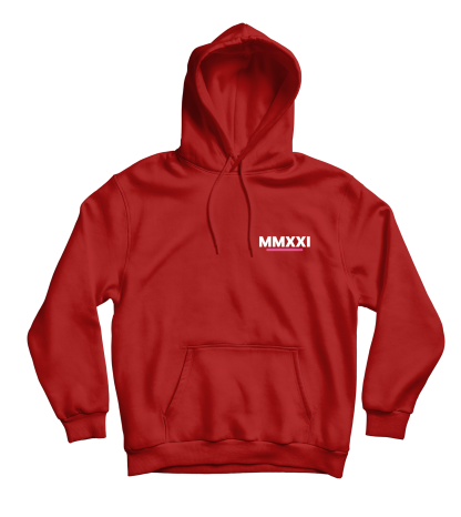 mmxxi subtle hoodie rood