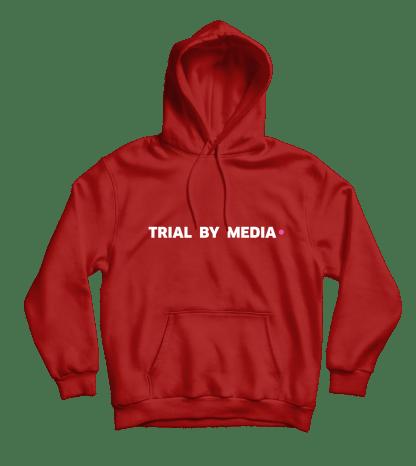 trial by media hoodie rood