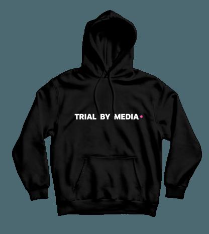 trial by media hoodie zwart