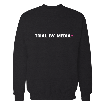 trial by media sweatshirt zwart