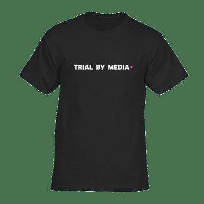 trial by media tshirt zwart