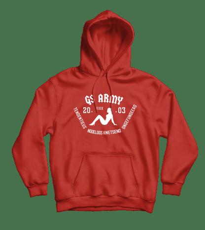gs army hoodie rood