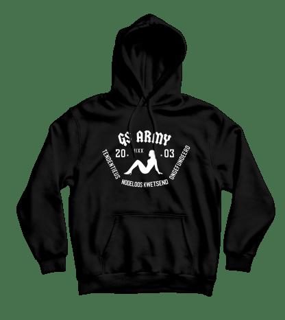 gs army hoodie zwart