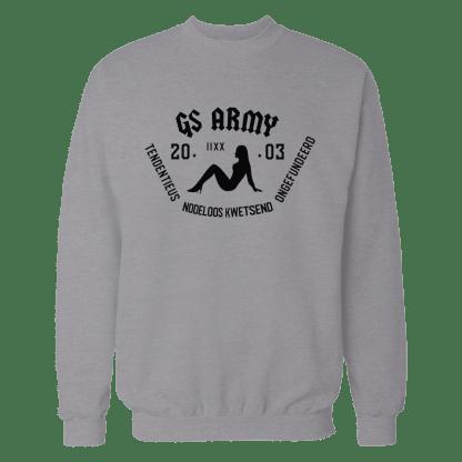 gs army sweatshirt grijs