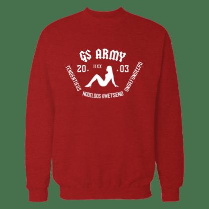 gs army sweatshirt rood