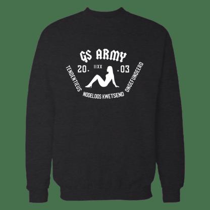 gs army sweatshirt zwart