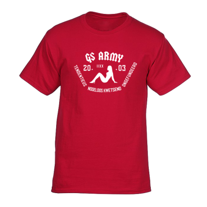 gs army tshirt rood